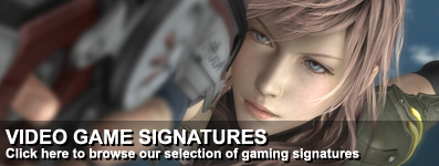 Gaming signatures